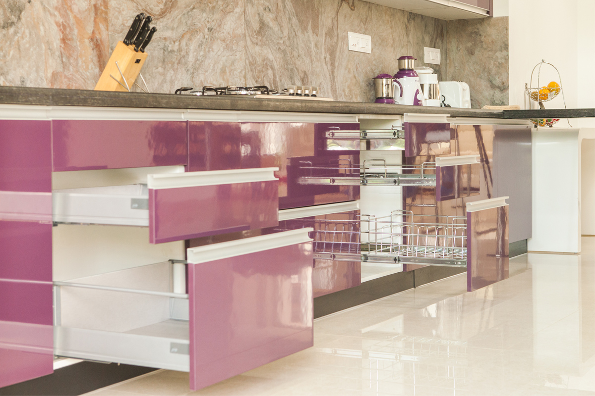 Modular kitchen for Modular kitchen shelves designs
